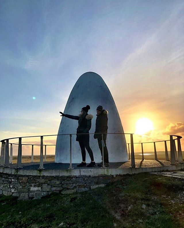 Thanks to @cb_stepcrew for sharing this beautiful shot from the Derrygimlagh Signature Discovery Point, which marks the spot where pilots Alcock & Brown crashed in 1919, completing the world's first transatlantic flight. Learn more about the historic site and its role in transatlantic communications when you read the story at the #linkinbio!