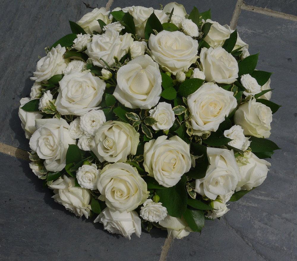 Elegant Ivory Rose Posy Pad.jpg