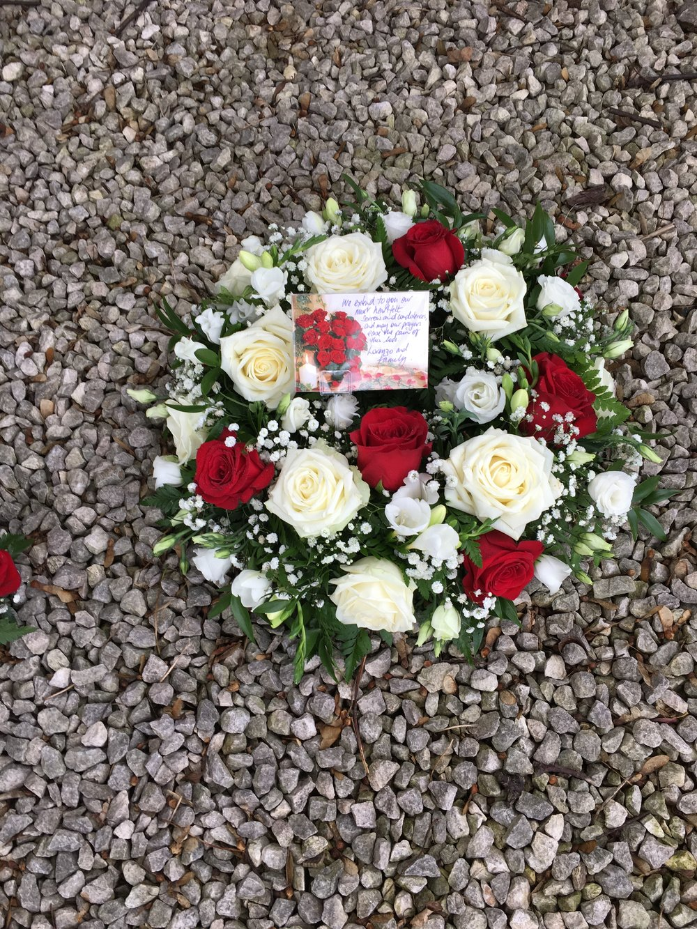Classic Posy Pad in red and white