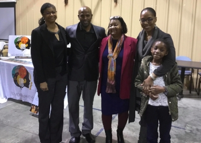 Dr. Nadia Richardson (with daughter), Dr. Pamela Payne-Foster, Dr. Monica Anderson and Dr. Rahaem Paxton.