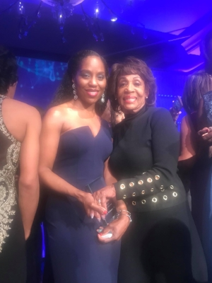 Dr. Richardson with Congresswoman Maxine Waters