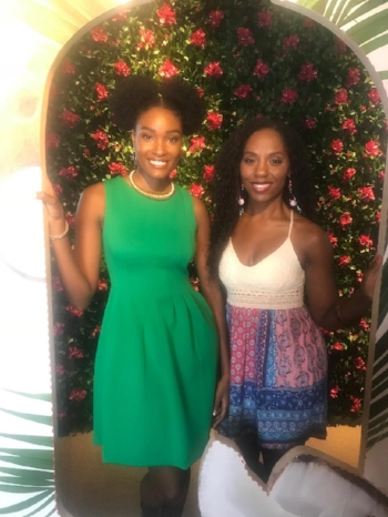 Dr. Nadia Richardson (No More Martyrs) with Ms.  Davina Bennett  (Miss Jamaica 2017)