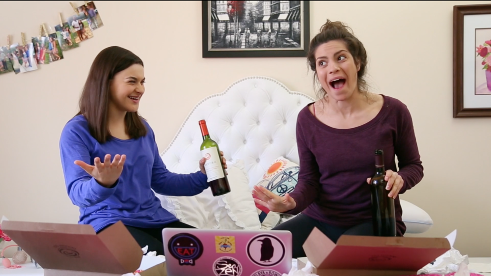 L to R: Gracemarie Loretta (Lauren) and Julia Barnett (Tara) in episode 2.