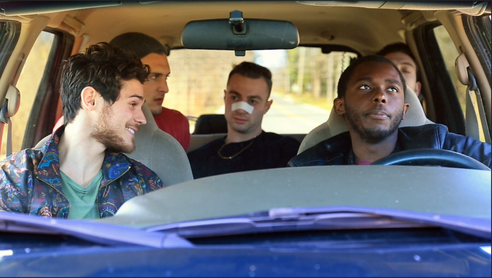 L to R: Branden Macor (Matty), Vincent Loretta (Ben), Josh Miller (Chris), and Andy Jean Louis (James) in episode 3.