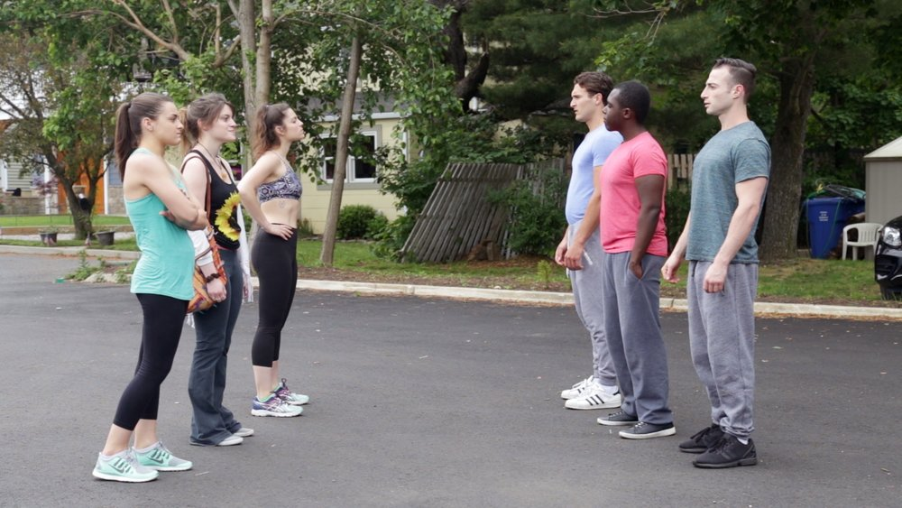 Gracemarie Loretta (Lauren), Jenna Brando (Jasia), Julia Barnett (Tara), Vincent Loretta (Ben), Andy Jean Louis (James), and Josh Miller (Chris) in episode 4.