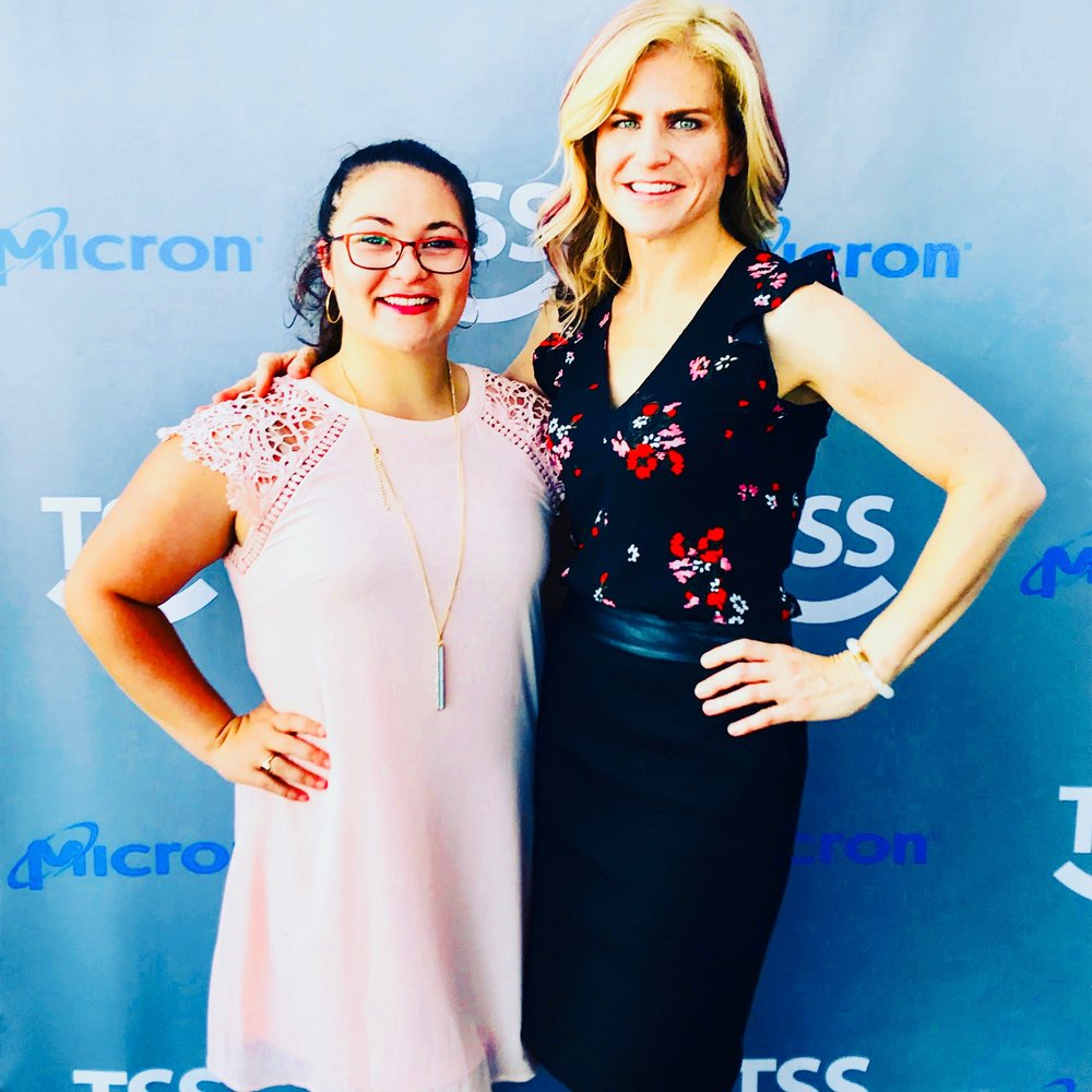 Atlanta Tech Village Mixer - Powerhouse networking with one of Sperry IP Law's talented summer interns, Elizabeth Shively at TSS's 2nd Annual Rooftop Summer Mix & Mingle at Atlanta Tech Village.