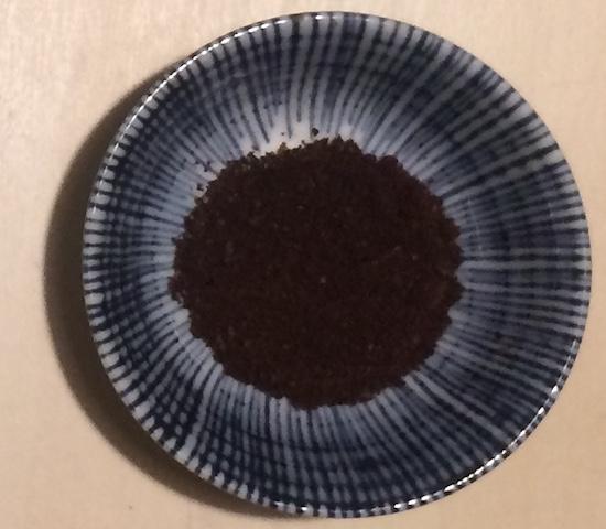 オーガニックコーヒーの粉末