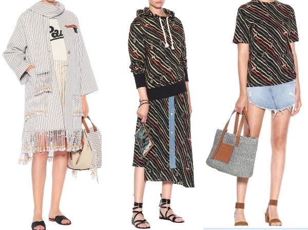 X Paula's Ibiza   パーカー(  € 550  )、   X Paula's   デニムスカート(  € 690)   X Paula's Ibiza      T  シャツ(  € 320  )   Photo:  mytheresa.com