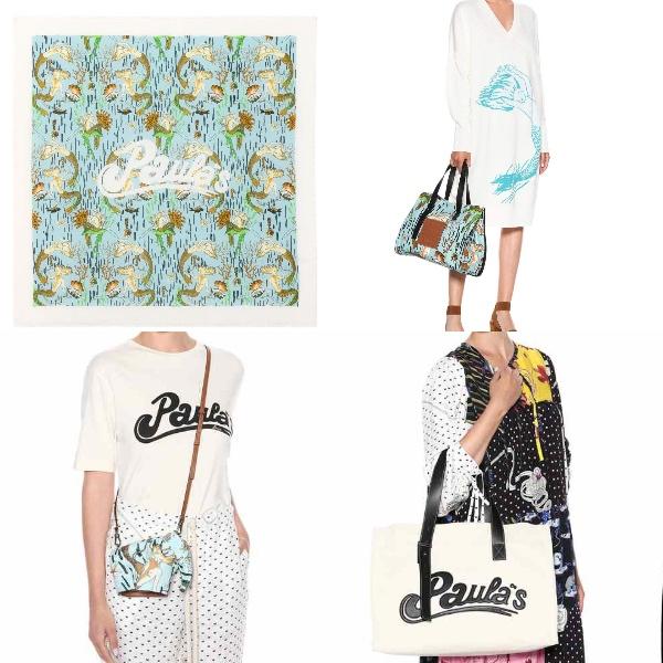 Photo:  mytheresa.com   ポーラスカーフ( € 390 )、ポーラ・オーバーサイズセーター( € 890 )、ポーラ・エレファントバッグ、ポーラトートバッグ( € 650 )