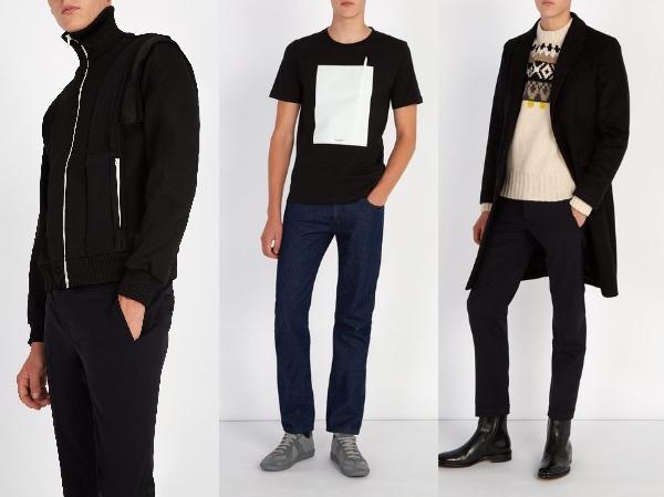 Photo: Matchesfashion.com  メゾン マルジェラ ハイネックトラックジャケット( €650 )Drawing 半袖・Tシャツ ( €190 )Bohus・ボハウスニットウールセーター( €490 )