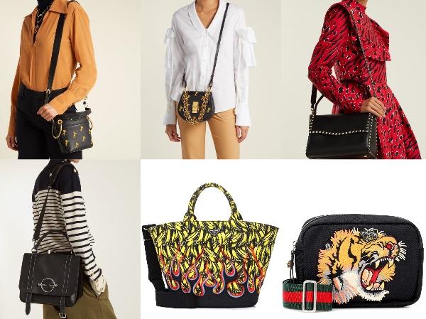 Drew Bijou  ミニショルダーバッグ( €1,750 )ヴァレンティノ・ Rockstud ショルダーバッグ( €1,700 )  JW・アンダーソン・ Disc  メッセンジャーバッグ( €1,150 ) Gucci  タイガー刺繍入りのカメラバッグ