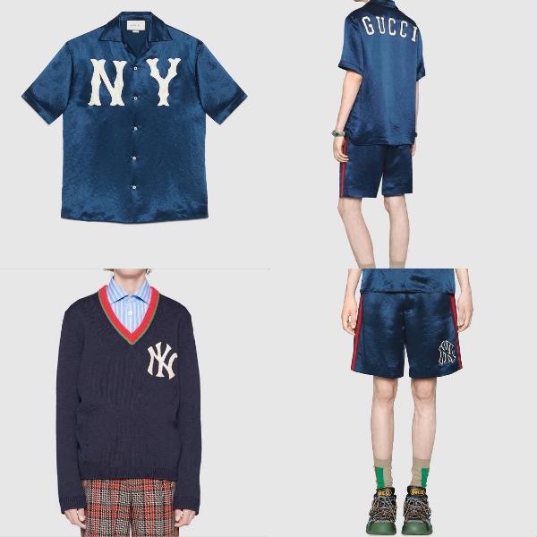 Gucci.com   グッチ・ ロゴ・ボーリングシャツ  グッチ・ NY ヤンキーズ・ハーフ・ショートパンツ   NY ニューヨークヤンキースパッチ Vネックセーター
