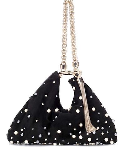Photo: mytheresa   Callie ガラス&ビーズ装飾ハンドバッグ