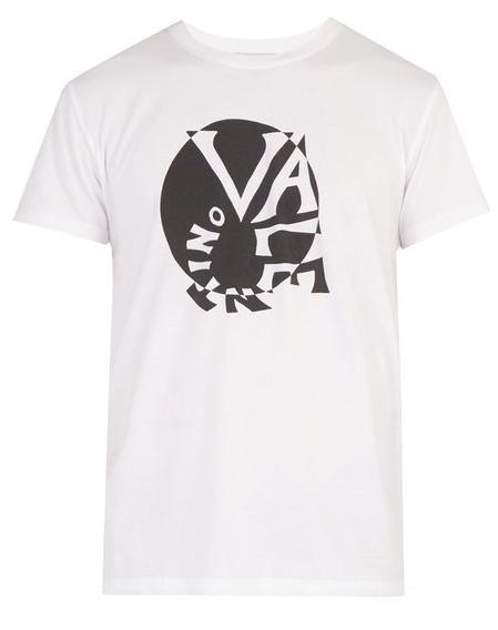 Photo: matchesfashion  ヴァレンティノ サークルレタリングロゴ・コットン・Tシャツ