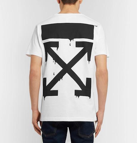 Photo:Mr Porter  オフホワイト  Bart Simpson・ロゴ・プリント Tシャツ
