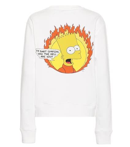 Photo: mytheresa  オフホワイト  Bart Simpson・コットン・スウェットシャツ