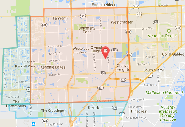 Miami Delivery Map