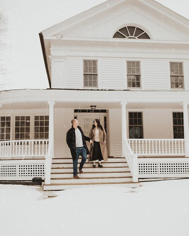 Sending off this wintery engagement sesh from the Berkshires today. @rachl.mauro check your inbox ↟ ↟