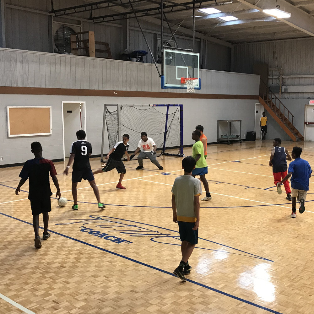 Boy's Futsal - Every Tuesday evening at 5:30pm we gather with boys 6th-10th grade to play indoor soccer. It is an awesome time to fellowship and press into these young men! Feel free to come and hang out with us!