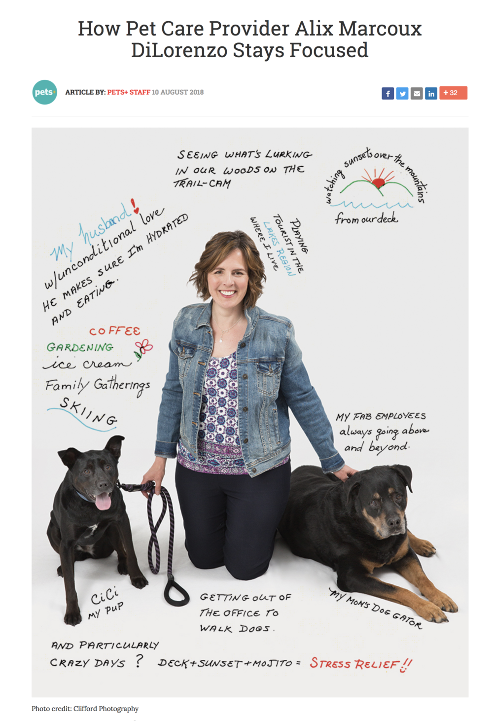 Homeward Bound Dog Walking Pets+ Magazine article