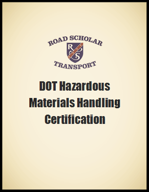 DOT Hazardous Materials Certificate
