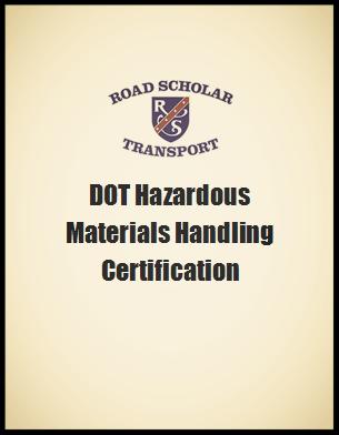 DOT Hazardous Materials Certificate