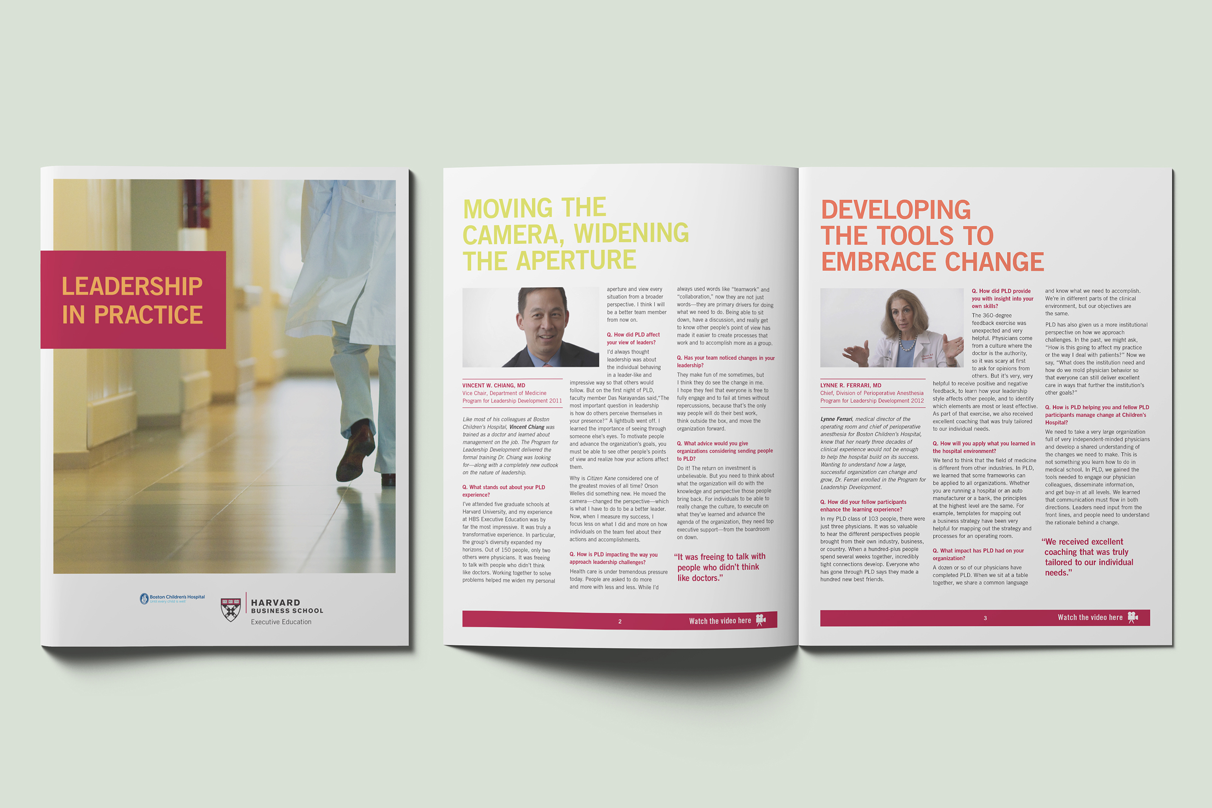 harvard business school brochure