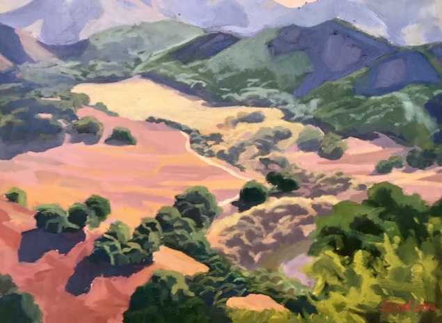 """""""Hills and Valley""""  Oil on Canvas 16""""x20"""". $750.00"""
