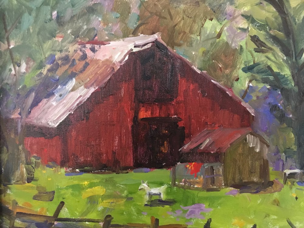 "Harmony Milk Barn 16""x12"". $625.00"