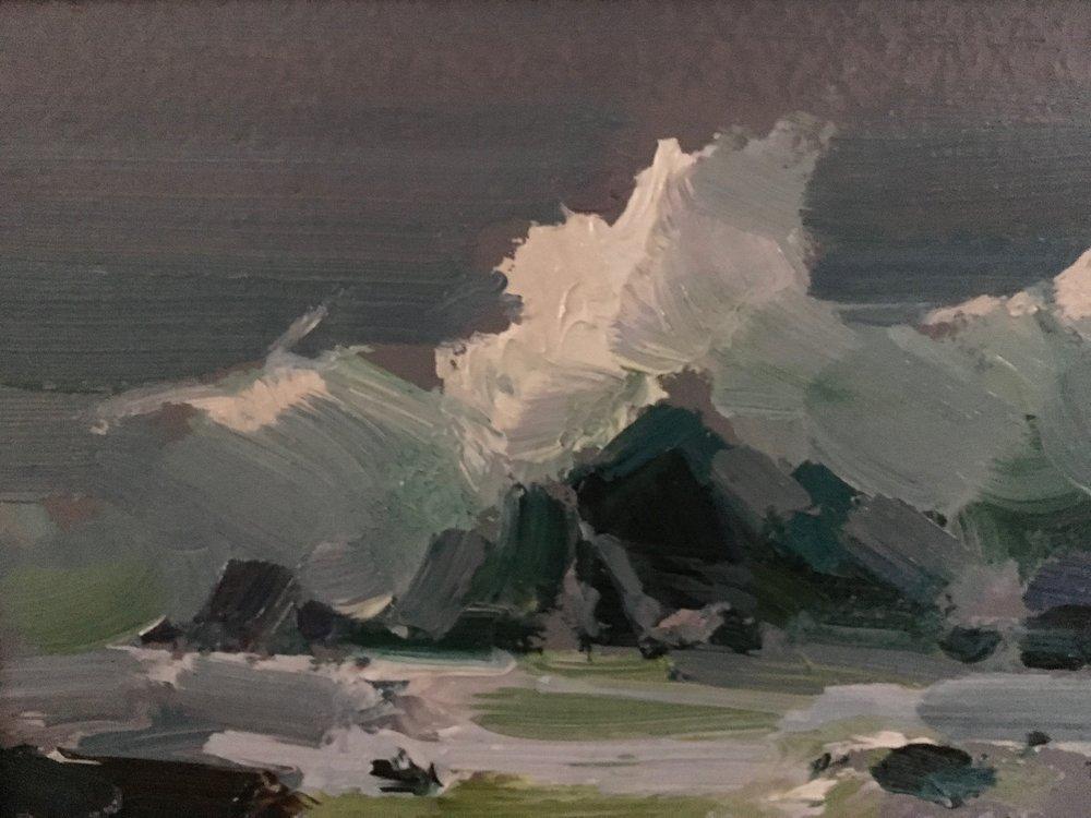 Crashing Waves 6x8 $2,400.00