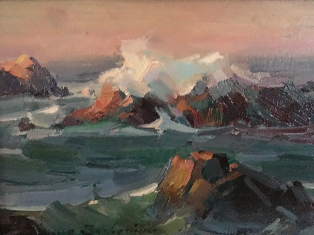 Stormy Pacific  6x8. $2,400.00