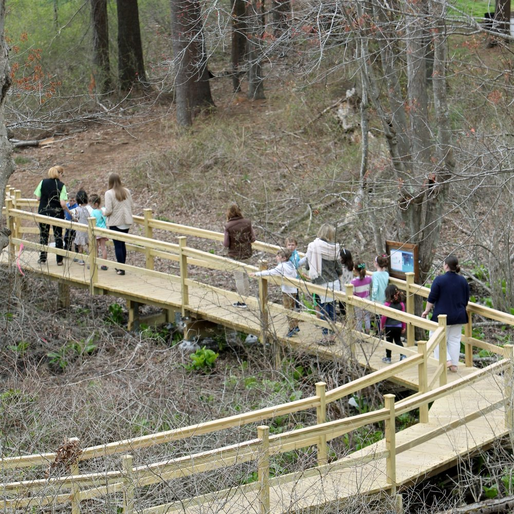 New discovery trails over six acres designed for children's hands-on learning