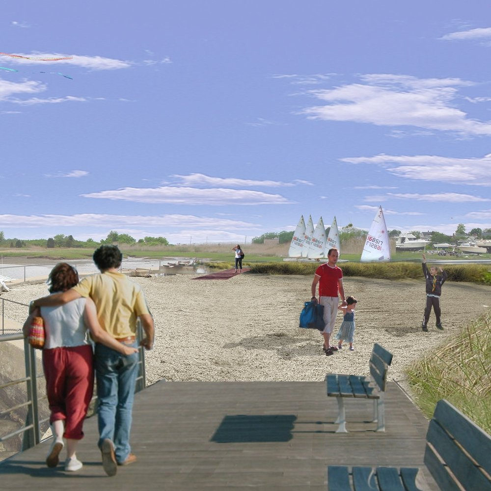 Design expanded public access and boating programs, and reuse of historic buildings