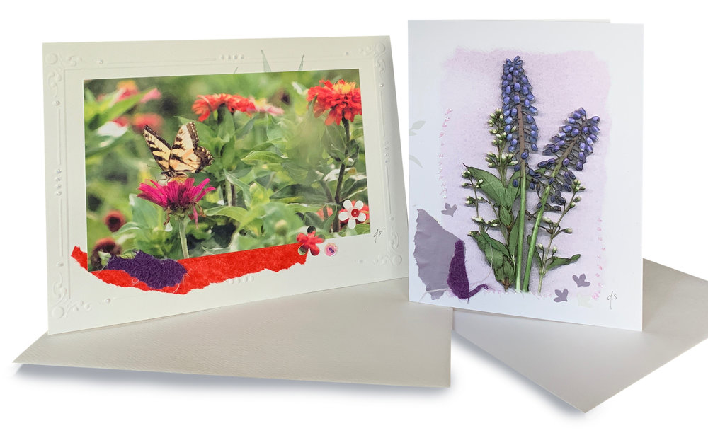 Custom greeting cards in two sizes.