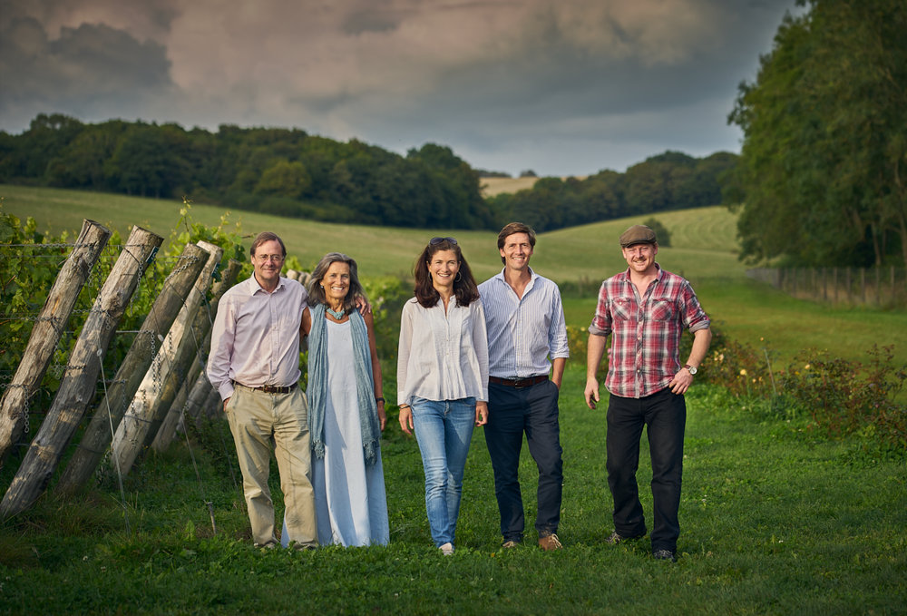 The Goring family at their vineyard