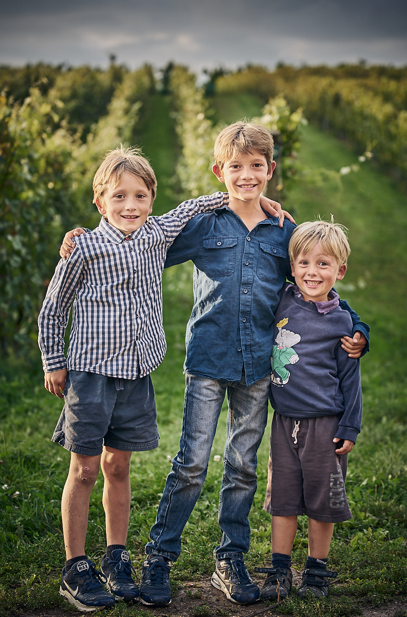Children, vineyard