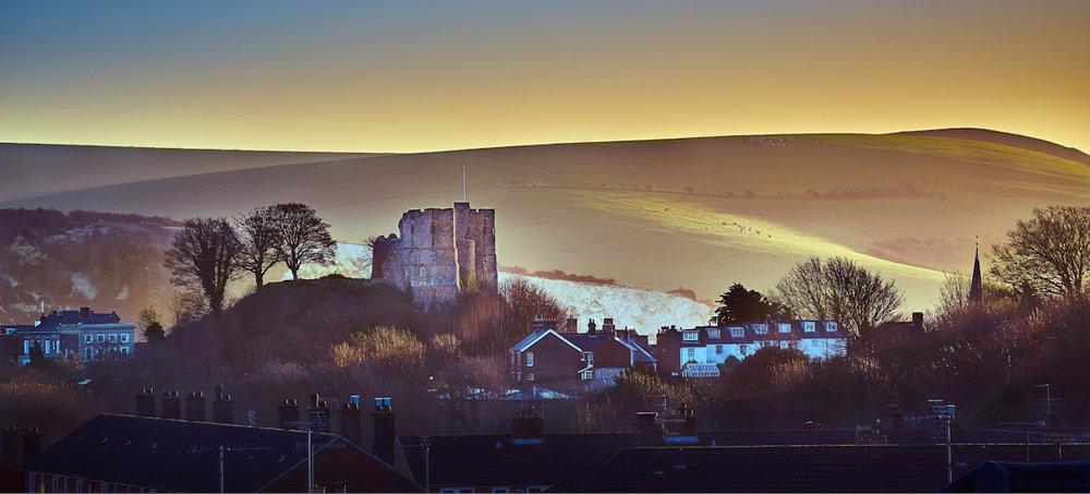 Lewes Castle, dawn