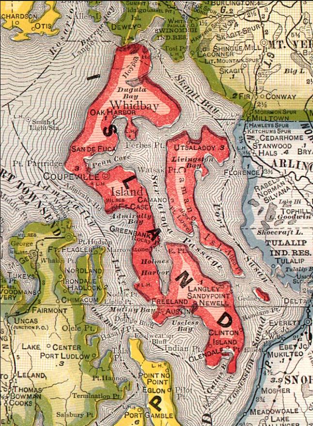 1909 Island County Map