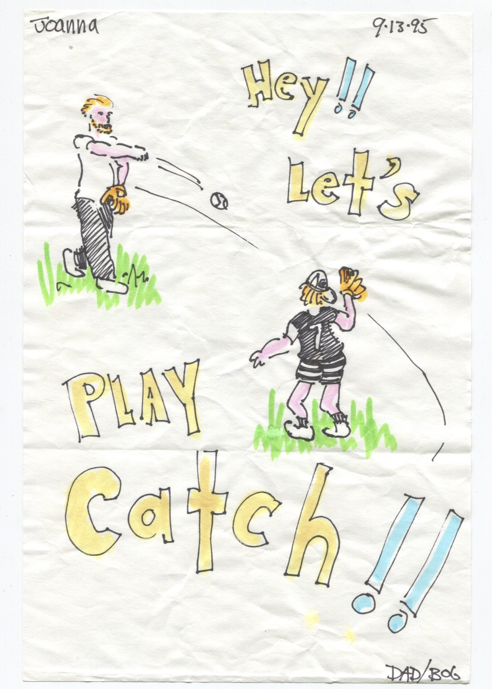 Hey!! Let's play catch!!