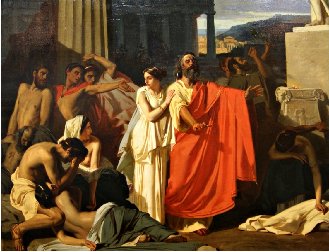 "the dense to creons actions in the play antigone In the play ""antigone"", sophocles at first portrays creon as a just leader he has good, rational reasons for his laws and punishments by the end of the play creon's hubris, or excessive pride, has taken over him, which leads to his demise."