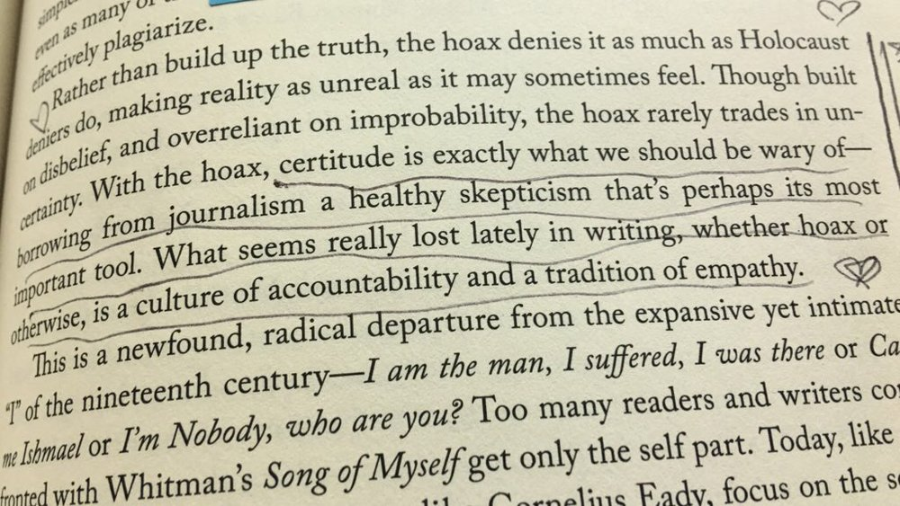 [quote pictured above from  Bunk: The rise of hoaxes, humbug, plagiarists, phonies, post-facts and fake news,  by Kevin Young]    To rebuild trust, we need to change journalistic process (Columbia Journalism Review, 2018)