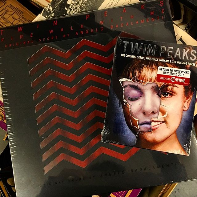 "Our weekend plans include spinning the @deathwaltzrecs ""Twin Peaks: Fire Walk With Me"" vinyl and watching the OG Twin Peaks while sipping damn fine coffee. How about you? ☕️ #TwinPeaks #FireWalkWithMe #WhoKilledLauraPalmer #DamnFineCoffee #DeathWaltz #Vinyl #Records #TheSoundGarden #Baltimore"