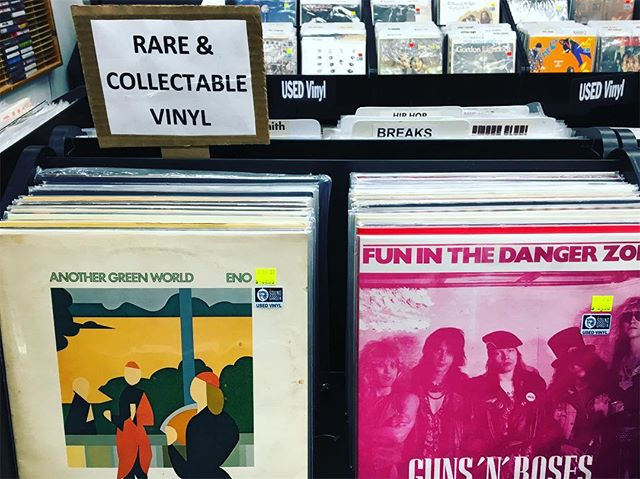 Whatchu know about that rare and collectible vinyl game? Check out our used vinyl section for some serious gems. 💎 #ShopLocal #ShopSmall #UsedVinyl #Rare #Eno #GunsNRoses #TheSoundGarden #Baltimore