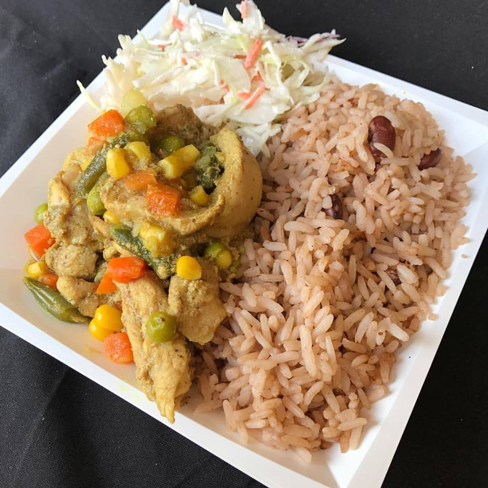 Jamaican Curry Chicken with Rice & Peas and Coleslaw.jpg