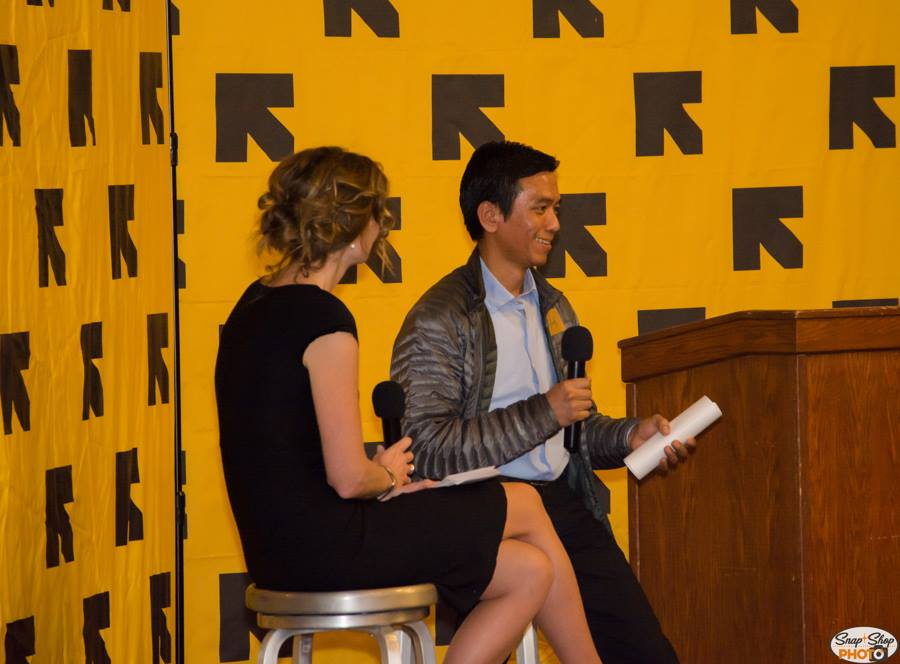 Claire Adams welcomed Aung Thang to engage in a Q&A discussing Aung's life since arriving as a refugee from Myanmar. Aung is the owner of Golden Land Auto Repair.