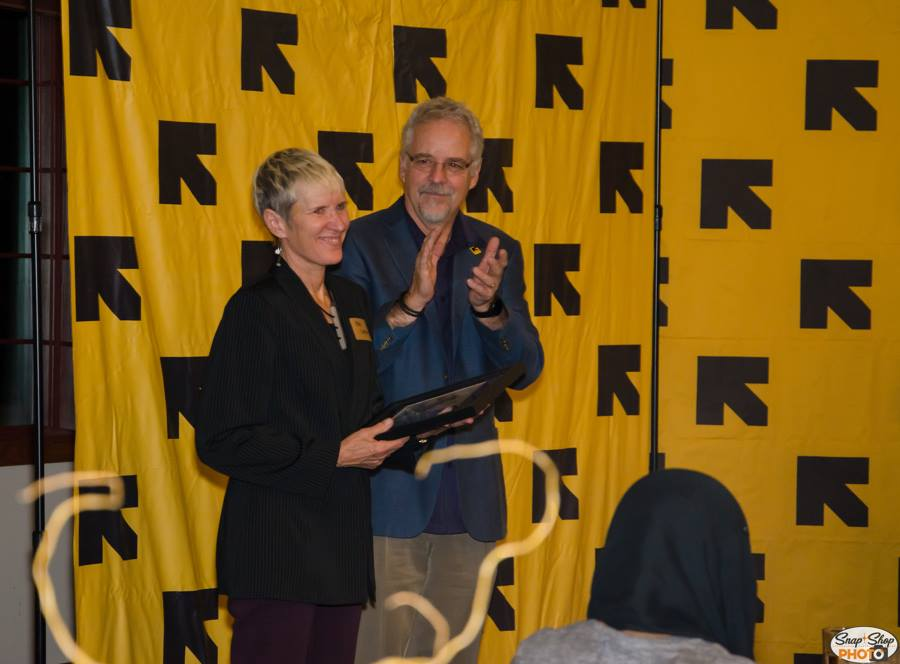The third award was presented to Yda Smith and the U of U Occupational Therapy program for their continued work to help refugees positively integrate into their new community.