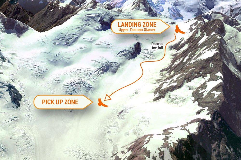 Tasman Glacier Névé zone.