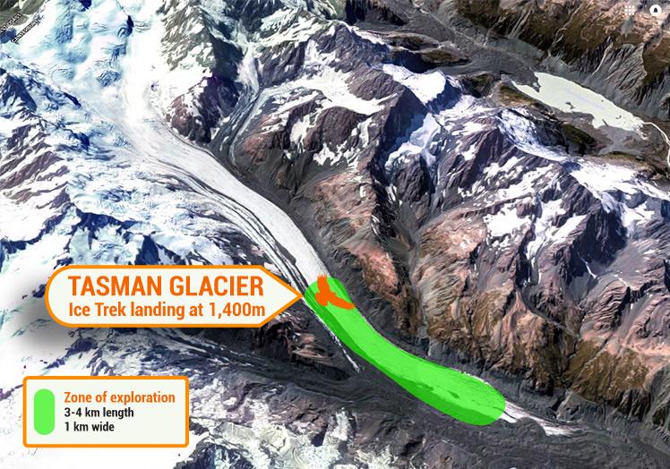Tasman Glacier Ice Trek zone