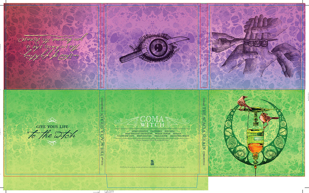 Coma Witch digipak layout