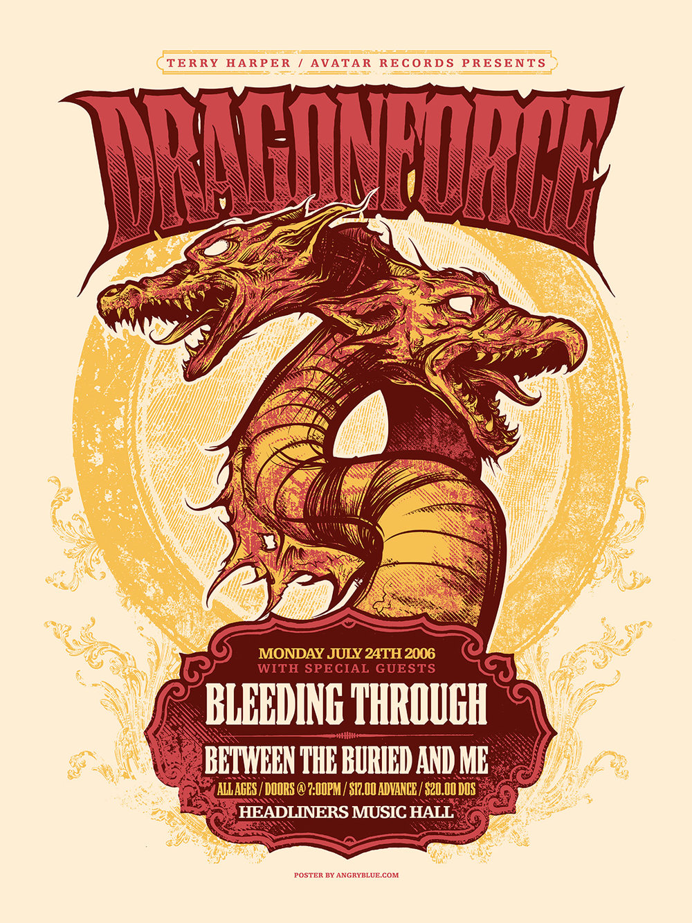This is the poster where I learned that maybe Dragonforce isn't really that into dragons.